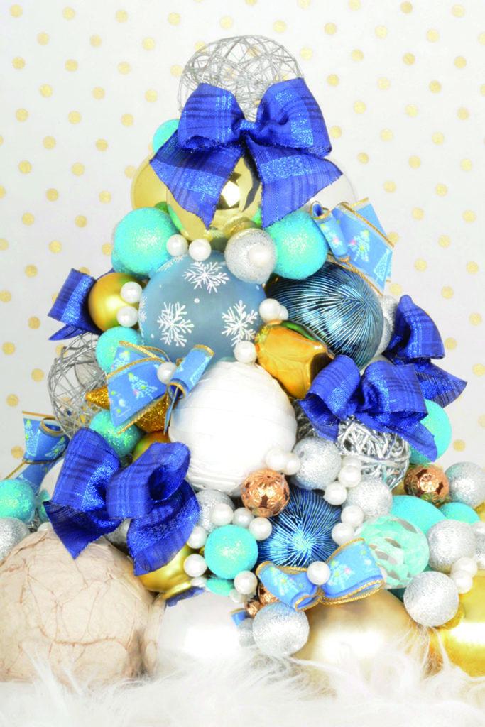 """Ref I666 : ruban imprimé laitonné """"Sapin aquarelle"""" / Ref I551 : gros grain dorure relief """"Christmas tree"""""""